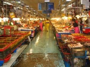 Mercado de Jagalchi em Busan